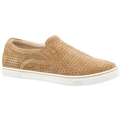 Lds Feirce Geo Perf tawny slipon shoe