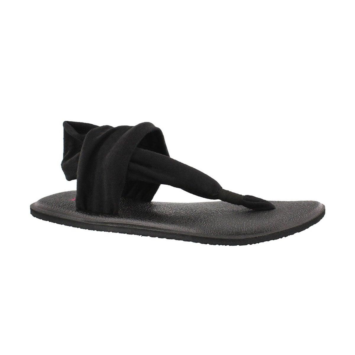 Girls' YOGA SLING BURST black thong sandals