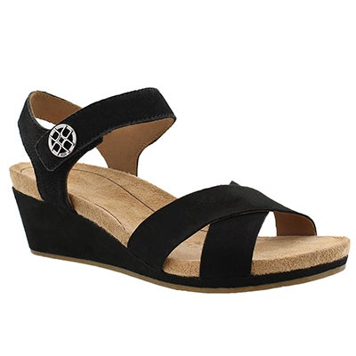 UGG Australia Wonen's VEVA black wedge sandals