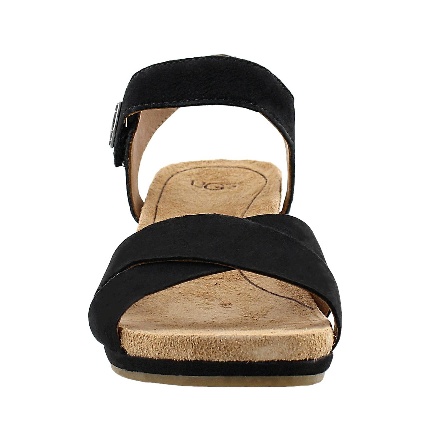 Lds Veva black wedge sandal