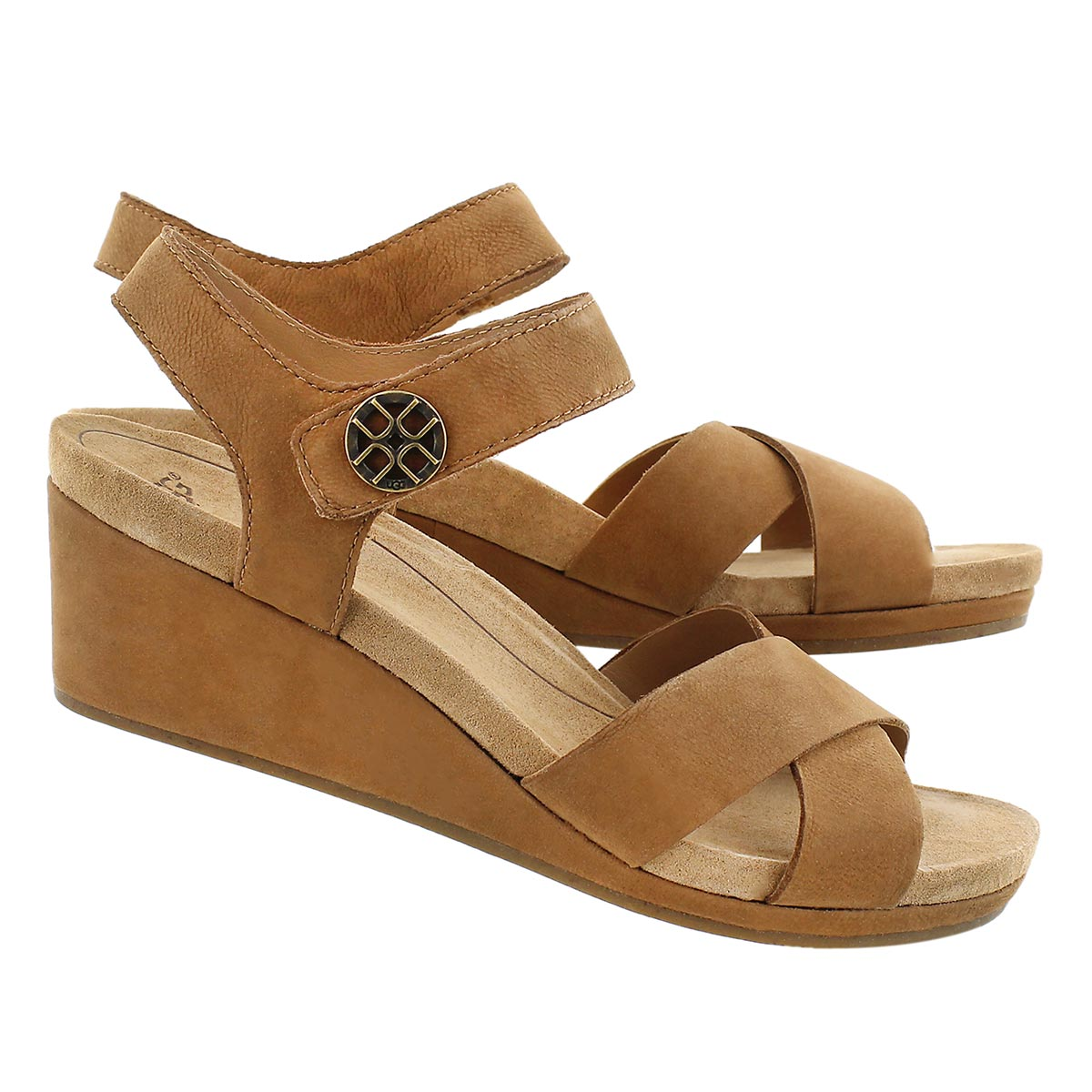 Lds Veva chestnut wedge sandal
