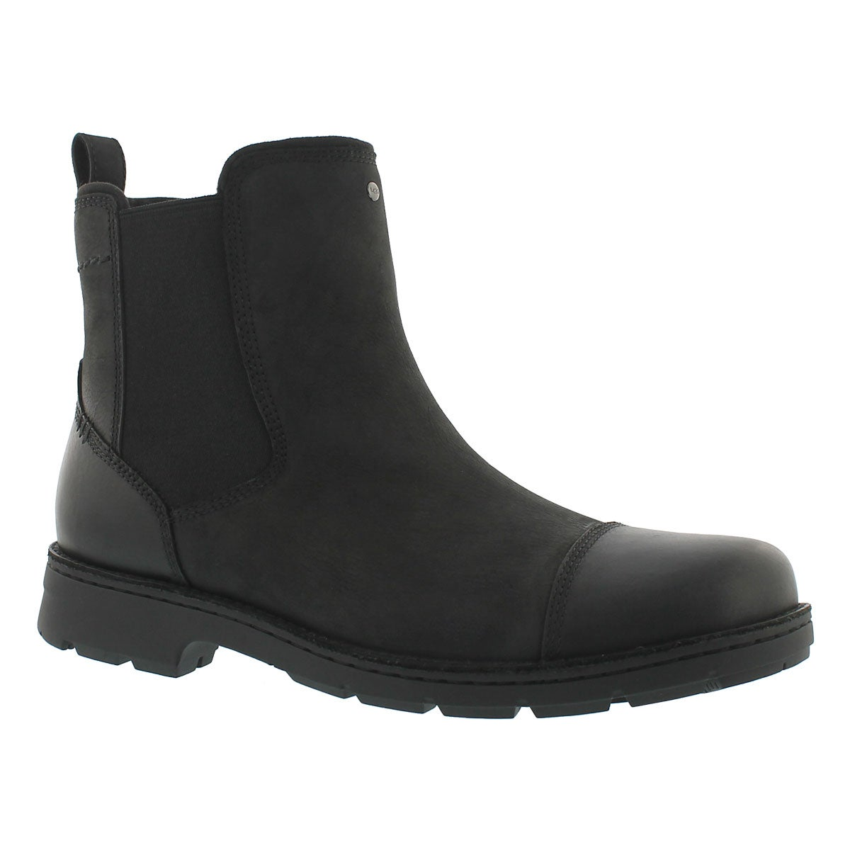 Mns Runyon black lined chelsea boot