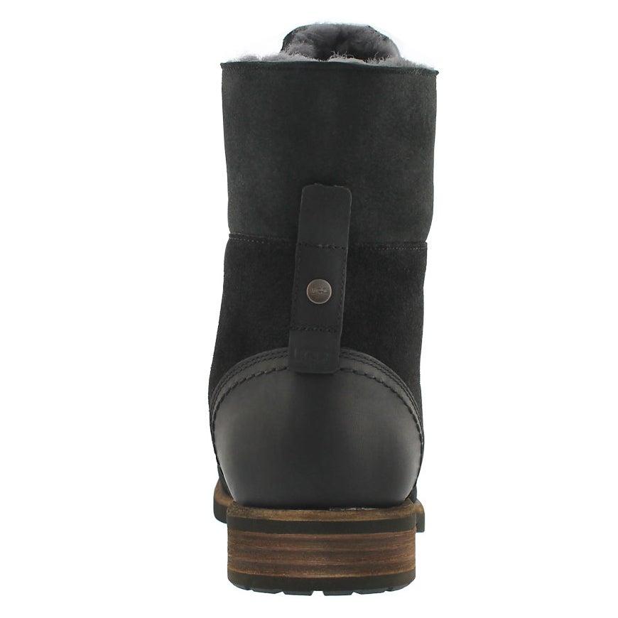 Mns Larus black laceup combat boot