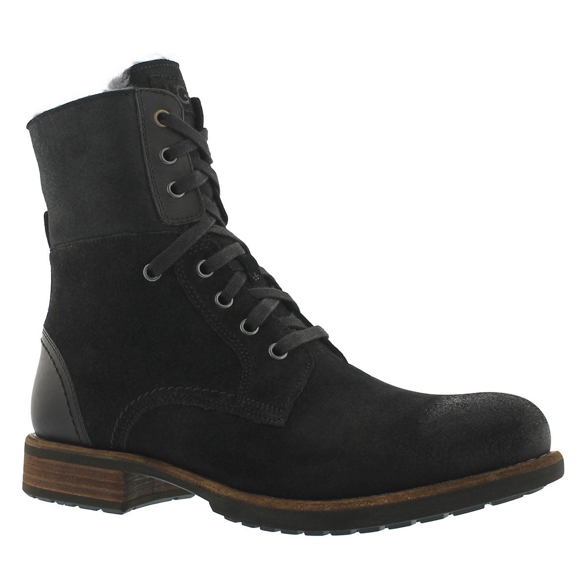 Men's  LARUS black lace up combat boots