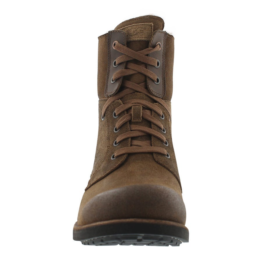Mns Larus chestnut laceup combat boot