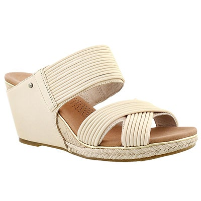 Lds Hilarie buff wedge slide sandal