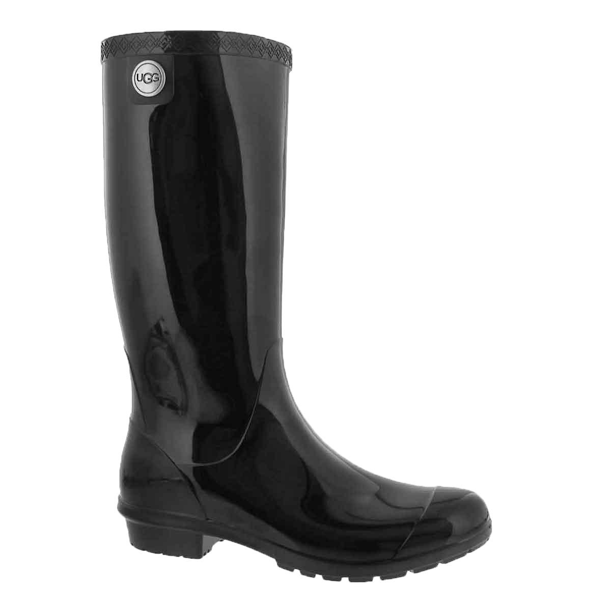 Women's SHAYE black waterproof rain boots