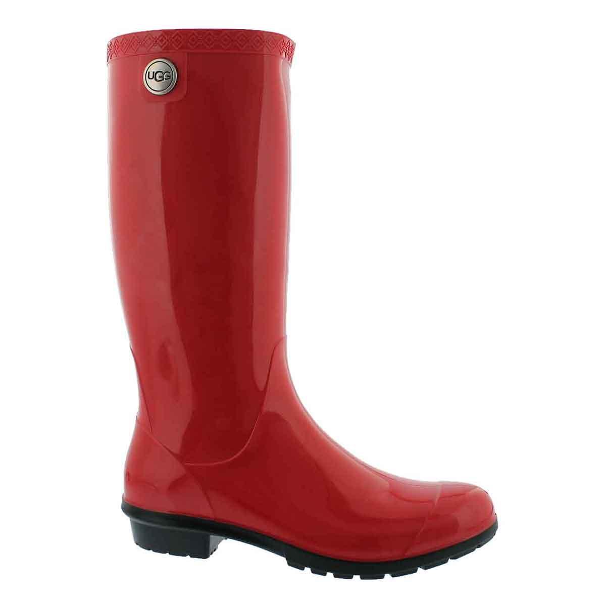 Women's SHAYE tango red waterproof rain boots