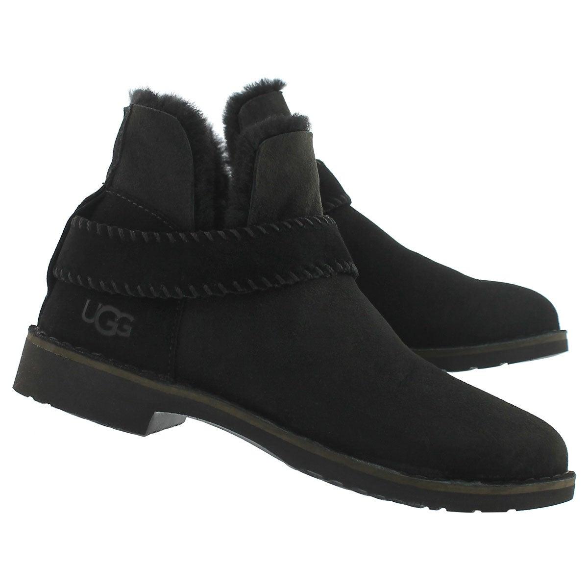 Lds McKay black sheepskin bootie