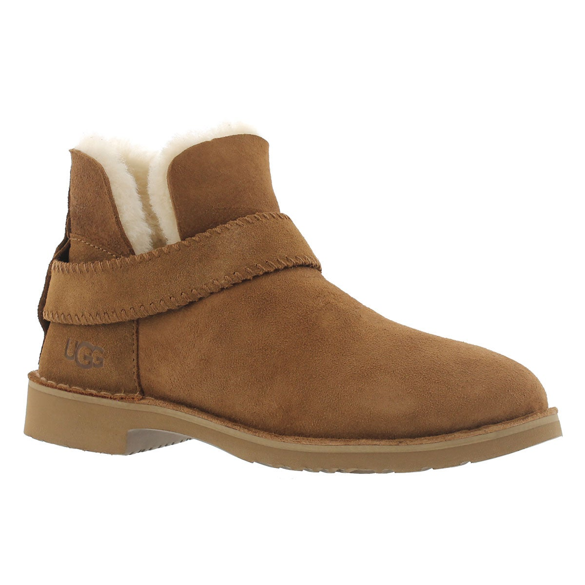 Women's MCKAY chestnut sheepskin booties