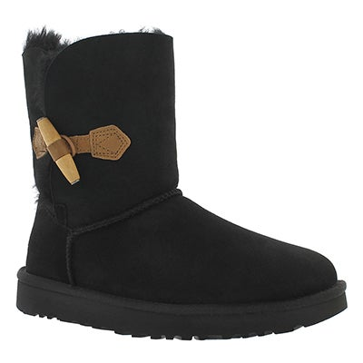 UGG Australia Women's KEELY black sheepskin toggle boots