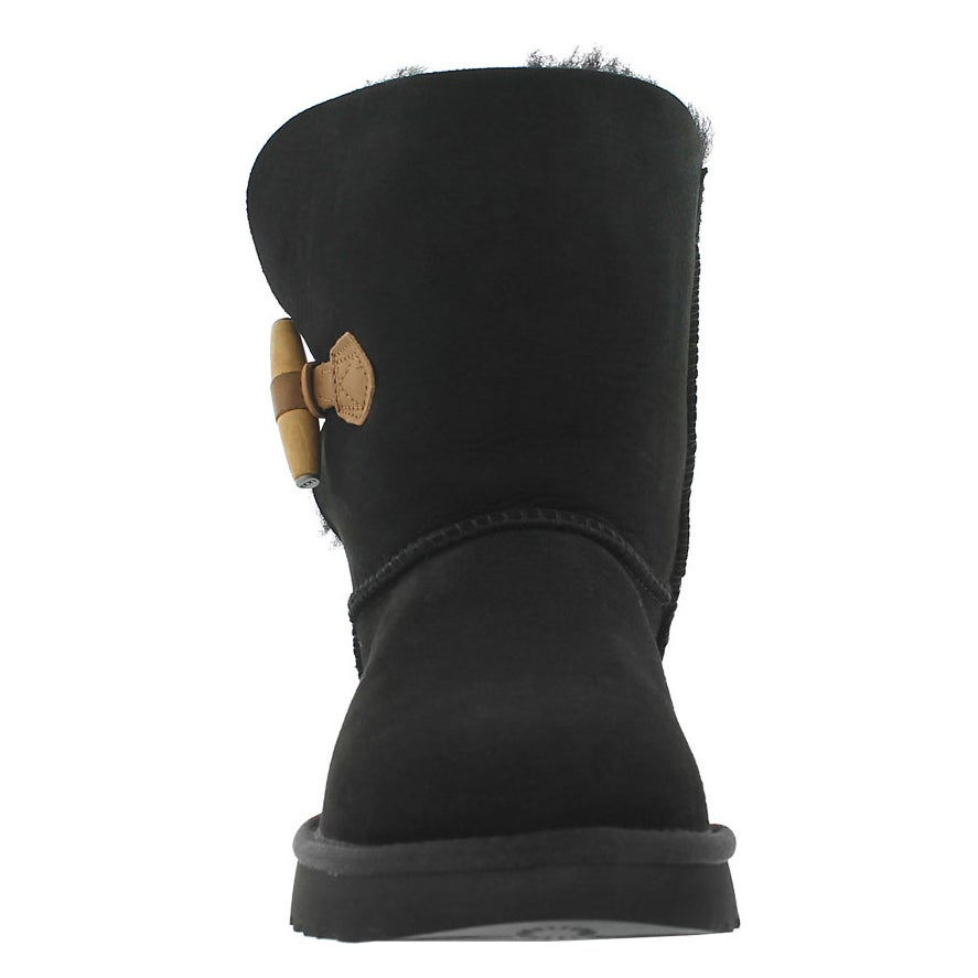 Lds Keely black sheepskin toggle boot