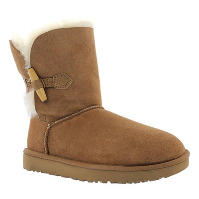 UGG Australia Women's KEELY chestnut sheepskin toggle boots