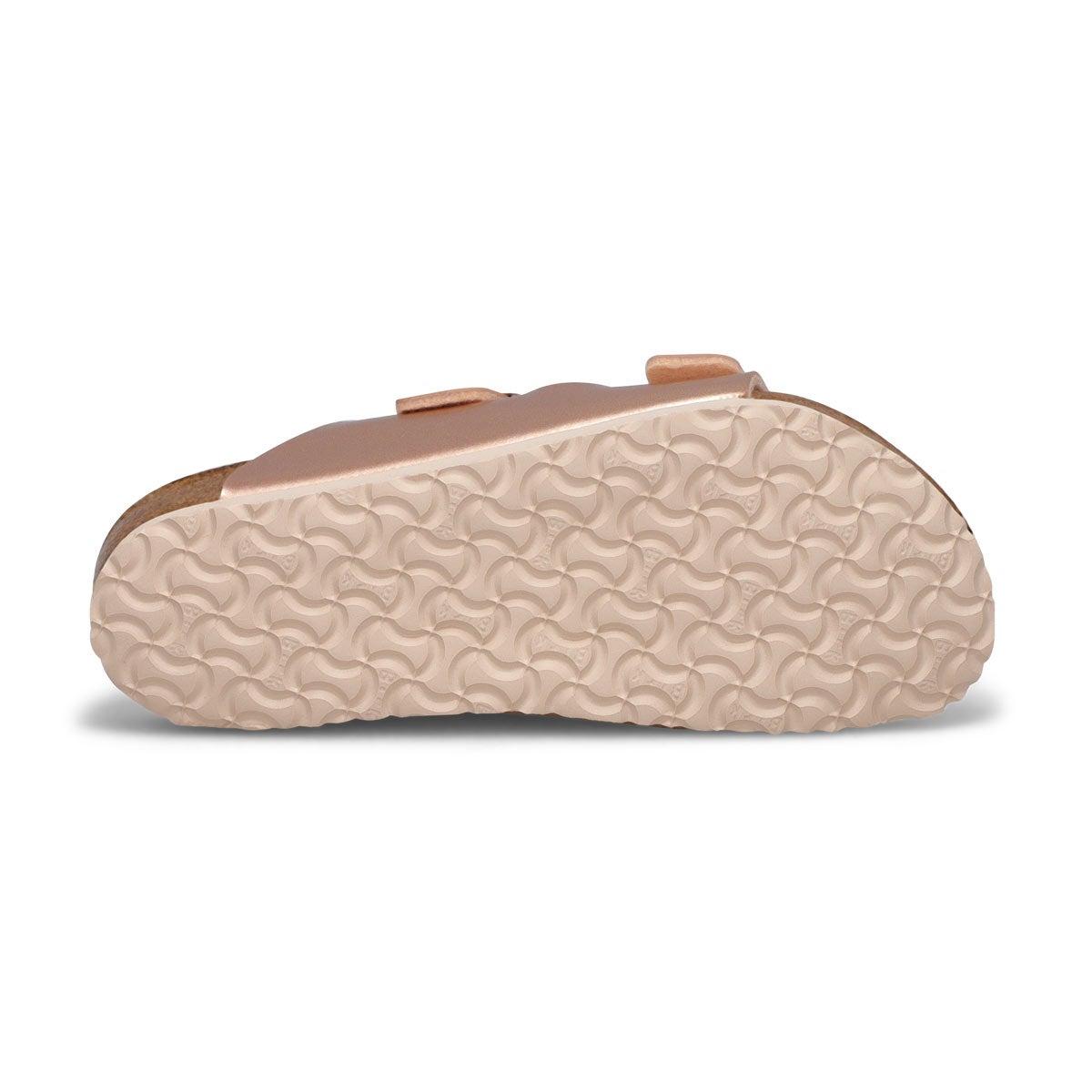 Grls Arizona BF mtl cpr 2 strap sandal-N