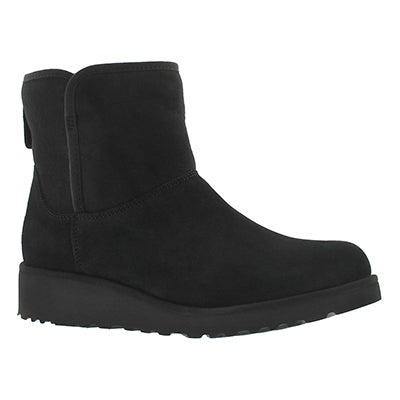 UGG Australia Women's KRISTIN black wedge sheepskin boots