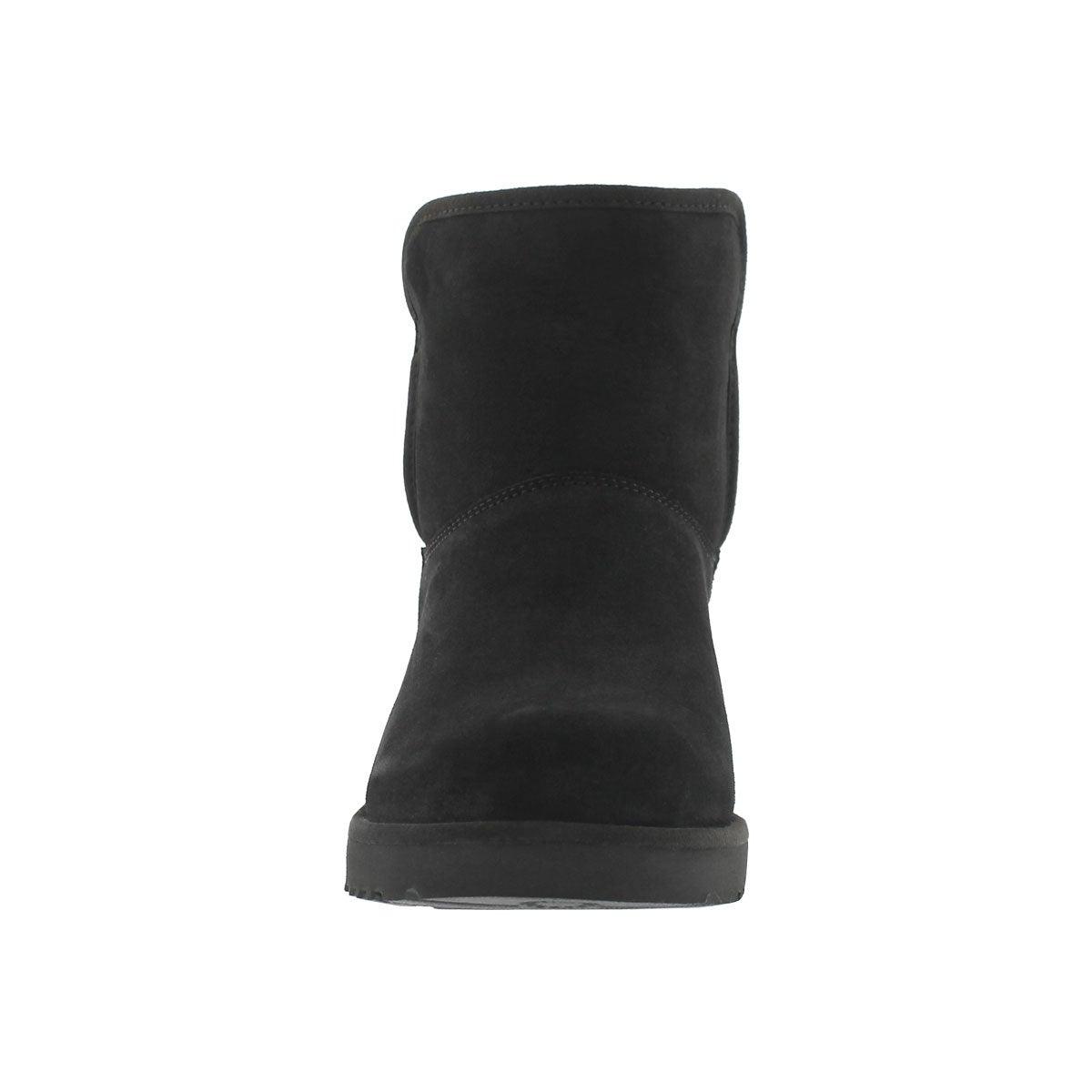 Lds Kristin black wedge sheepskin boot