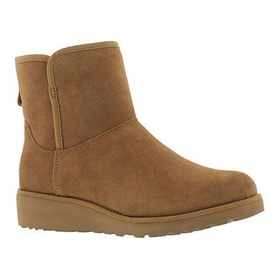 UGG Australia Women's KRISTIN chestnut wedge sheepskin boots