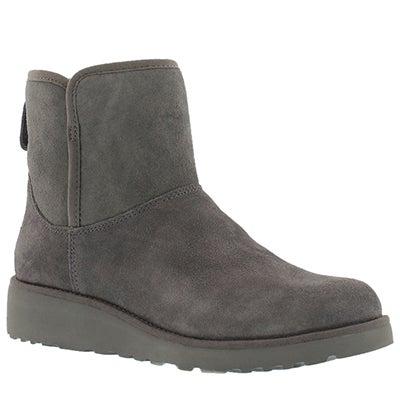 UGG Australia Women's KRISTIN grey wedge sheepskin boots