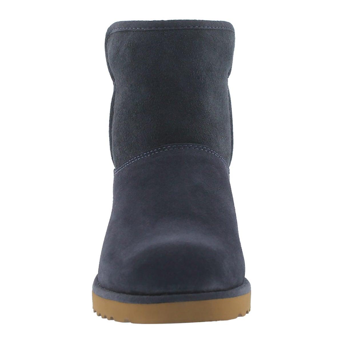 Lds Kristin navy wedge sheepskin boot