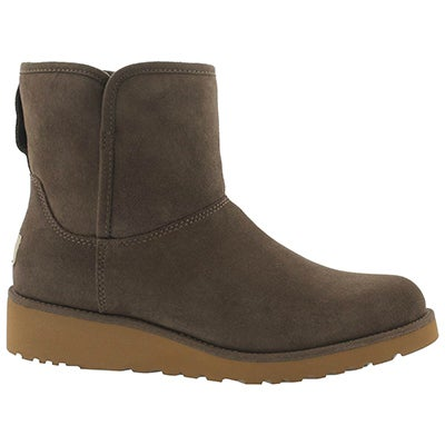 Lds Kristin slate wedge sheepskin boot