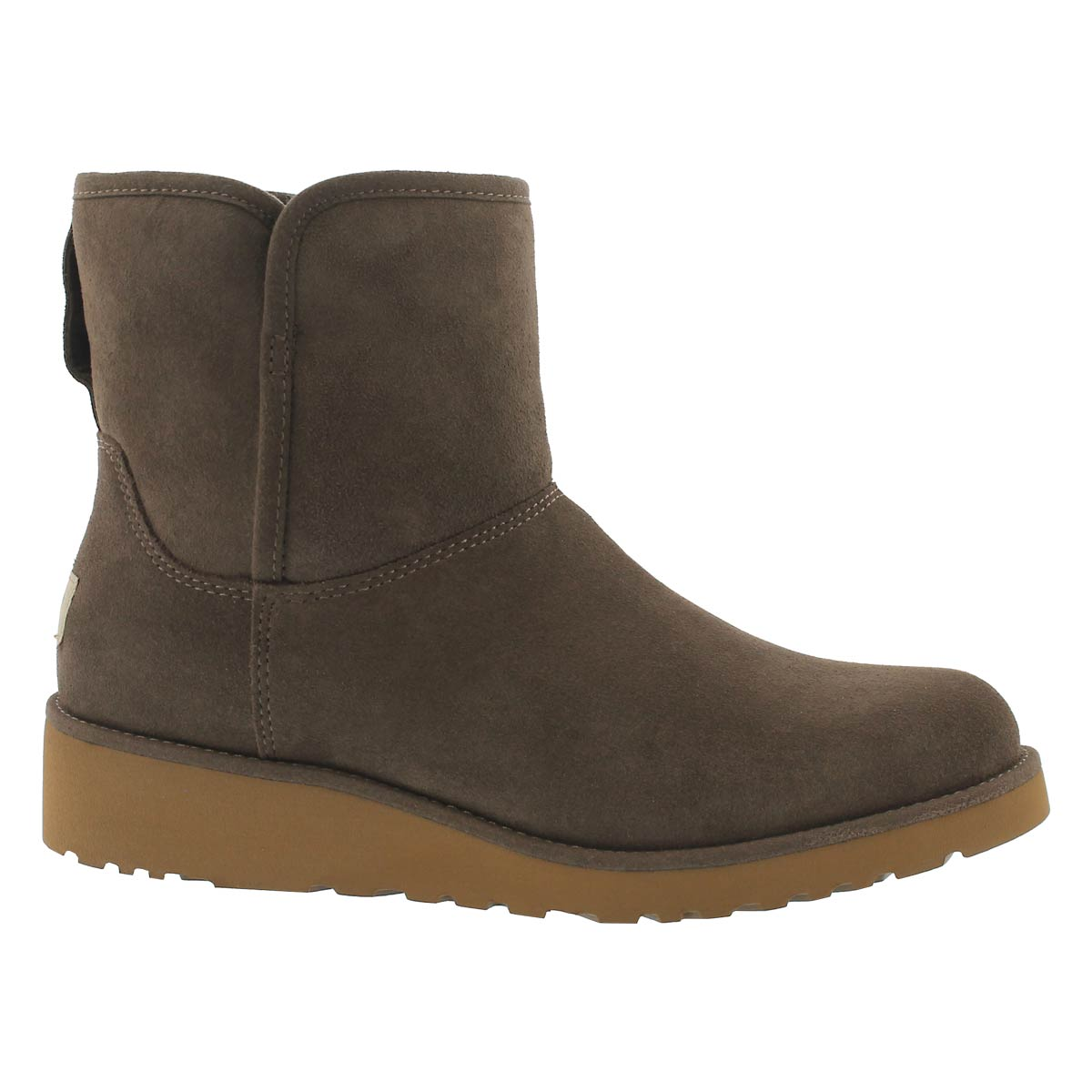 Women's KRISTIN slate wedge sheepskin boots