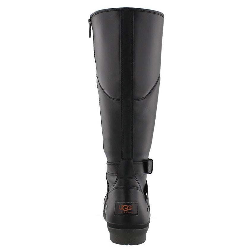 Lds Evanna blk waterproof riding boot