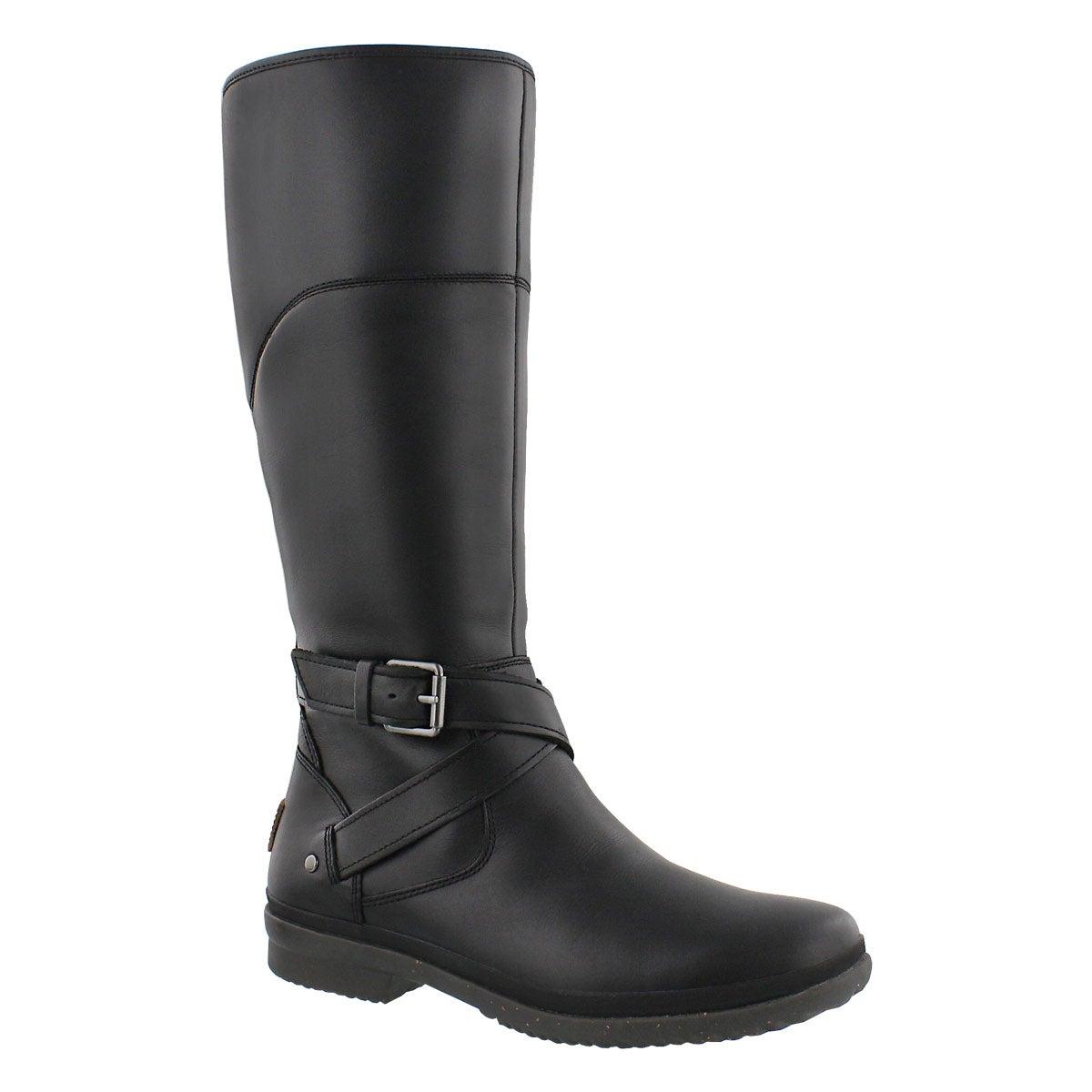 Women's EVANNA black waterproof riding boots