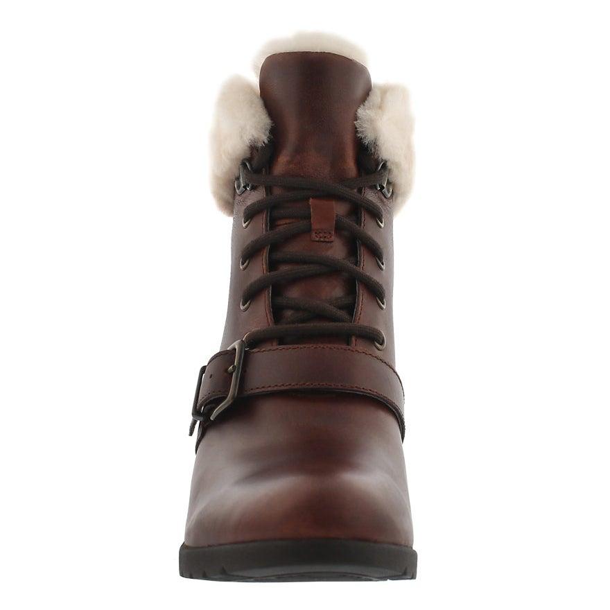 Lds Janney stout fur cuff wedge boot