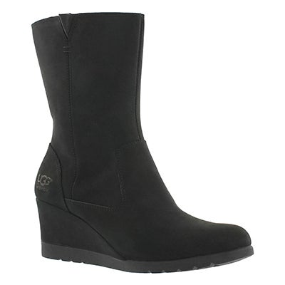 Lds Joely black wedge dress boot