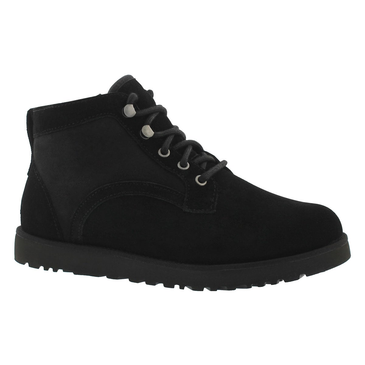 Women's BETHANY black lace up boots