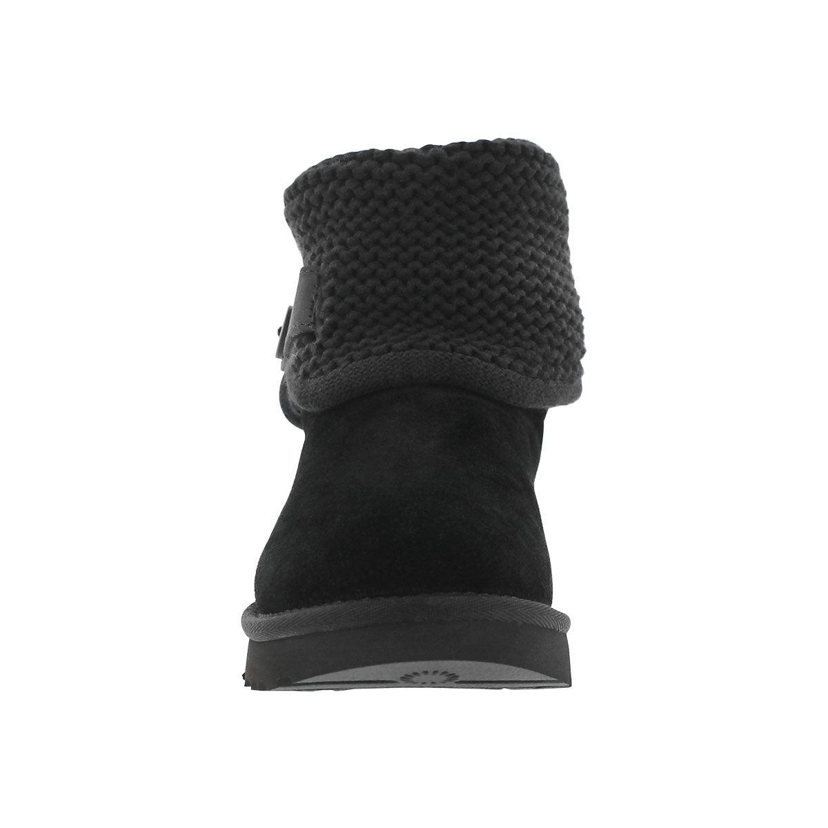 Botte à col en tricot Shaina, noir, fem