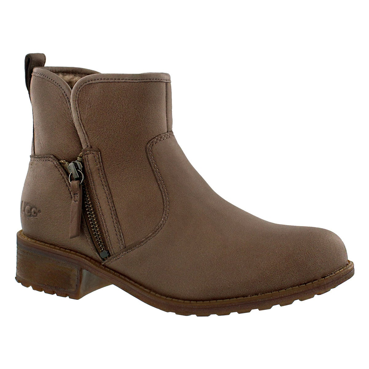Lds LaVelle camel zipper ankle boot