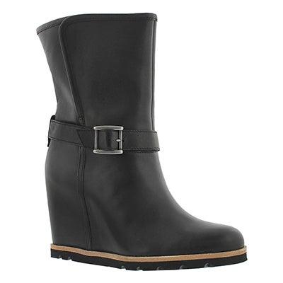 UGG Australia Women's ELLECIA black wedge dress boots