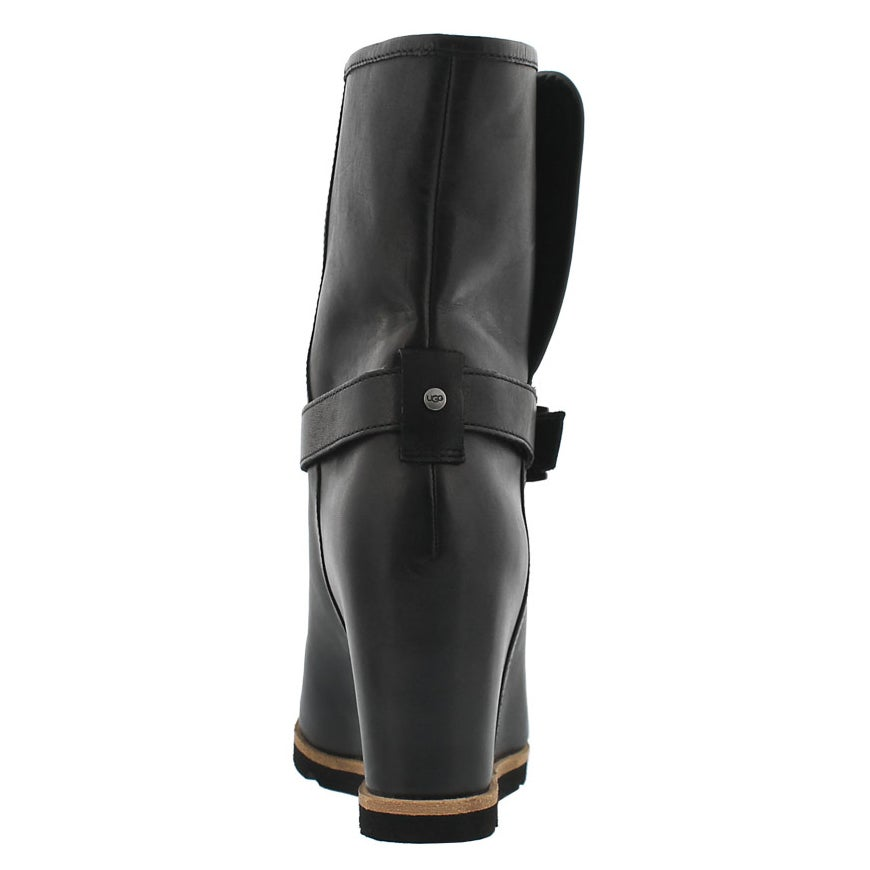 Lds Ellecia blk wedge dress boot