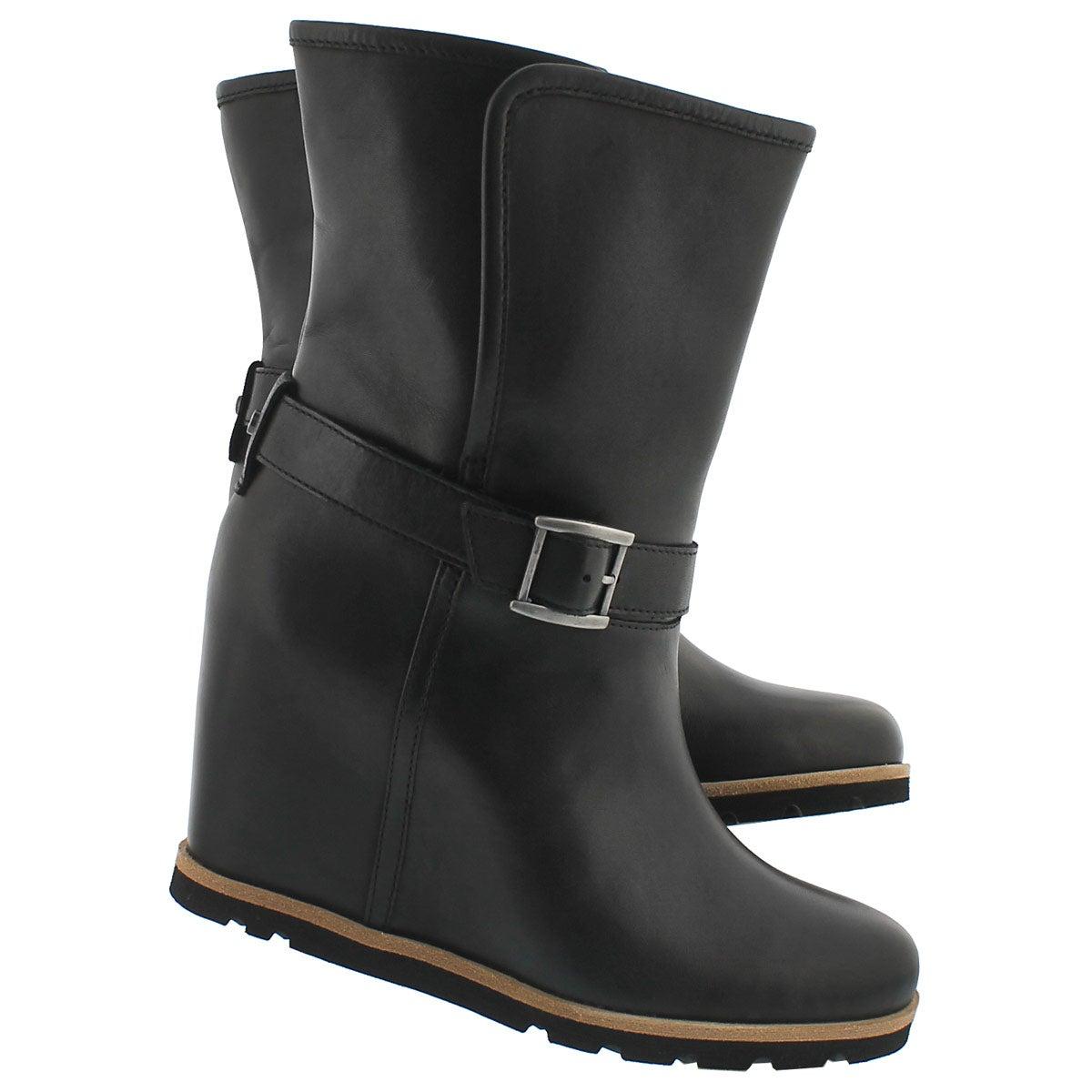 Lds Ellecia blk wedge dress boot