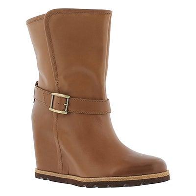 UGG Australia Women's ELLECIA chestnut wedge dress boots