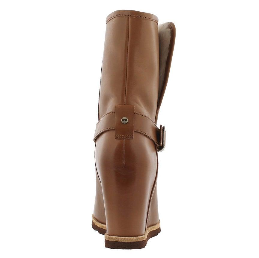 Lds Ellecia chestnut wedge dress boot