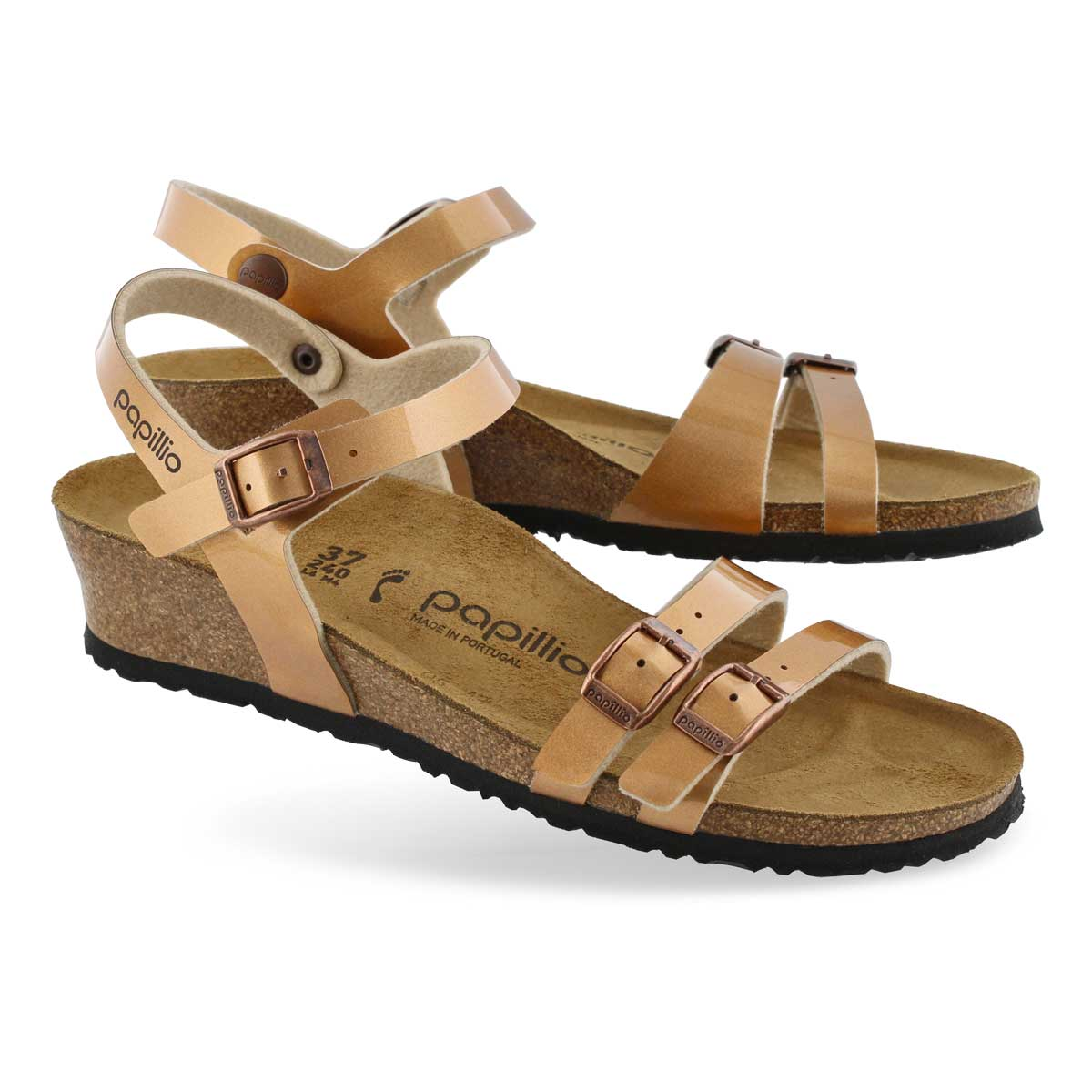 Lds Lana BF mtlc copper wedge sandal-N