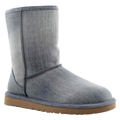 Lds Classic Short Denim Sandblasted boot