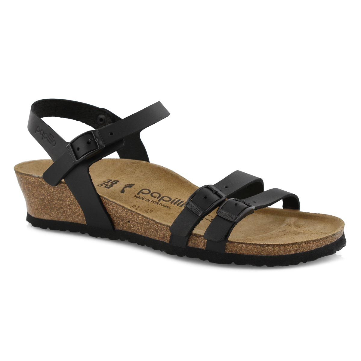 Lds Lana LTR black wedge sandal-N