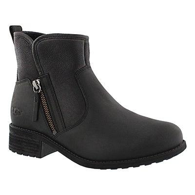 Lds LaVelle black zipper ankle boot