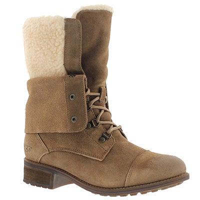 UGG Australia Women's GRADIN dark chestnut casual ankle boots