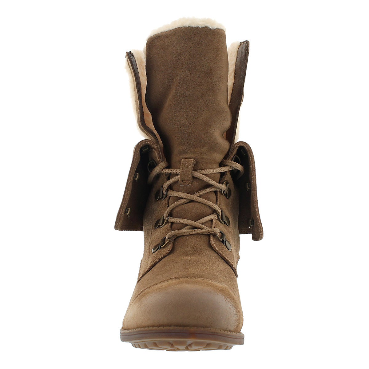 Lds Gradin dk chestnut casual ankle boot