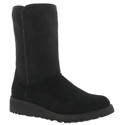 UGG Australia Women's AMIE black wedge tall sheepskin boots