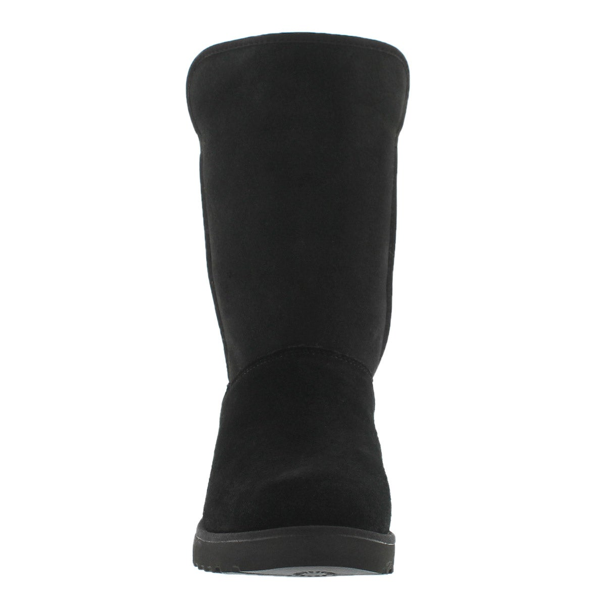 Botte talon comp Amie, mouton noir, fem