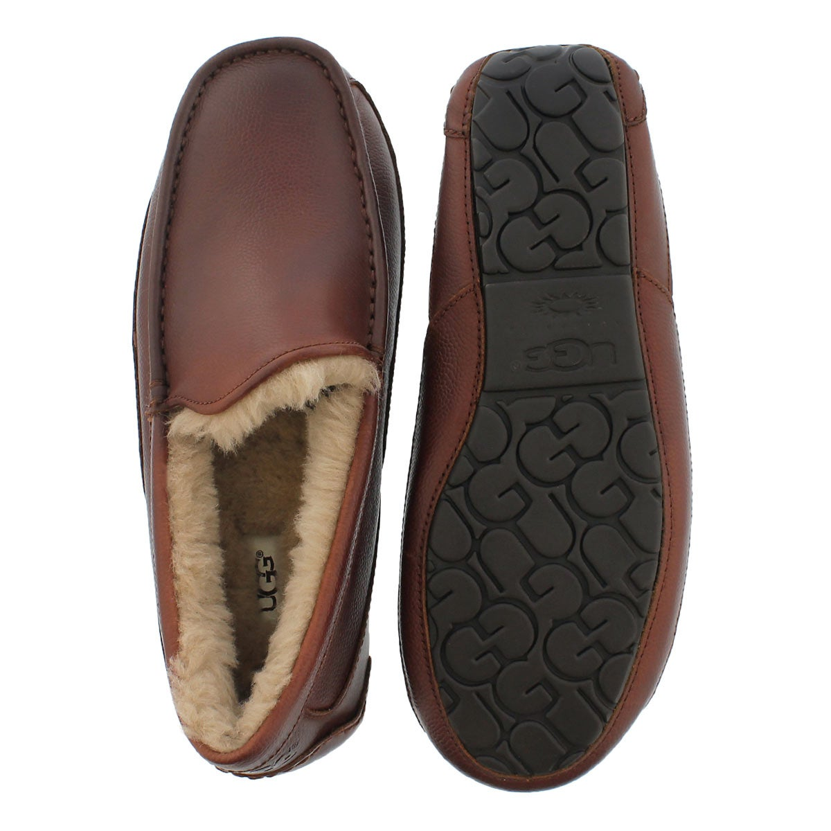 Mns Ascot Scotch Grain cognac moccasin