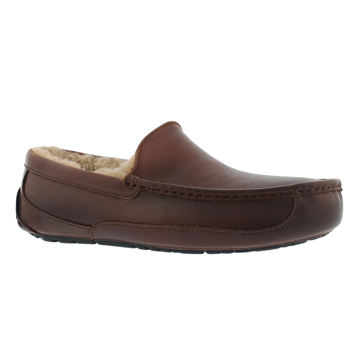 Men's ASCOT SCOTCH GRAIN cognac moccasins