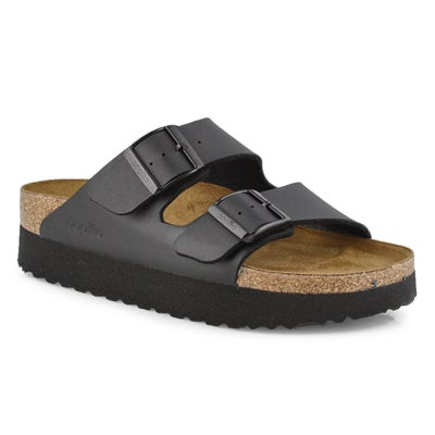 Lds Arizona black platform sandal-N