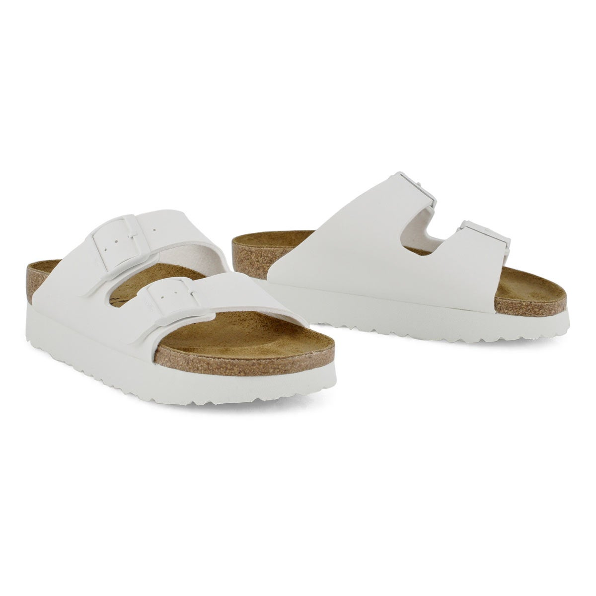 Lds Arizona white platform sandal-N