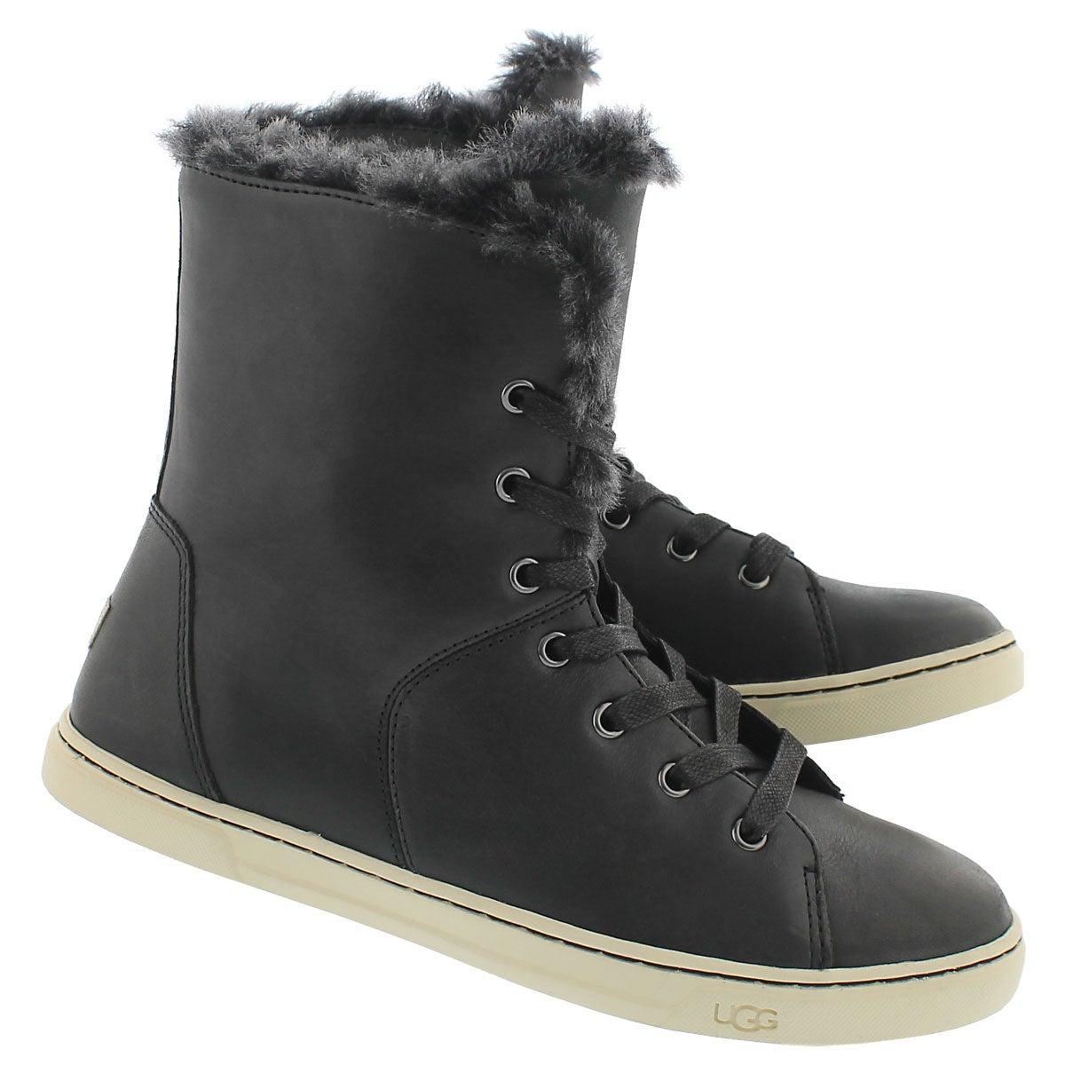 Lds Croft Luxe Quilt blk fold down boot
